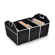 Black Folding Car Storage Box Collapsible Container Reserve Bags Organizer For Toys Food Book Cargo Stowing Styling(China (Mainland))