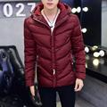 Men s coat 2016 winter Korean Slim Down padded hooded teenagers trend plus size code M