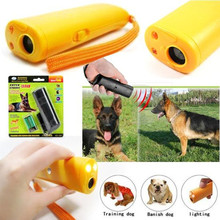 Environment Friendly ABS 9V 125dB Aggressive Electronic Ultrasonic Dog Shocker Repeller Chaser Pet Dog Training LED Flashlight