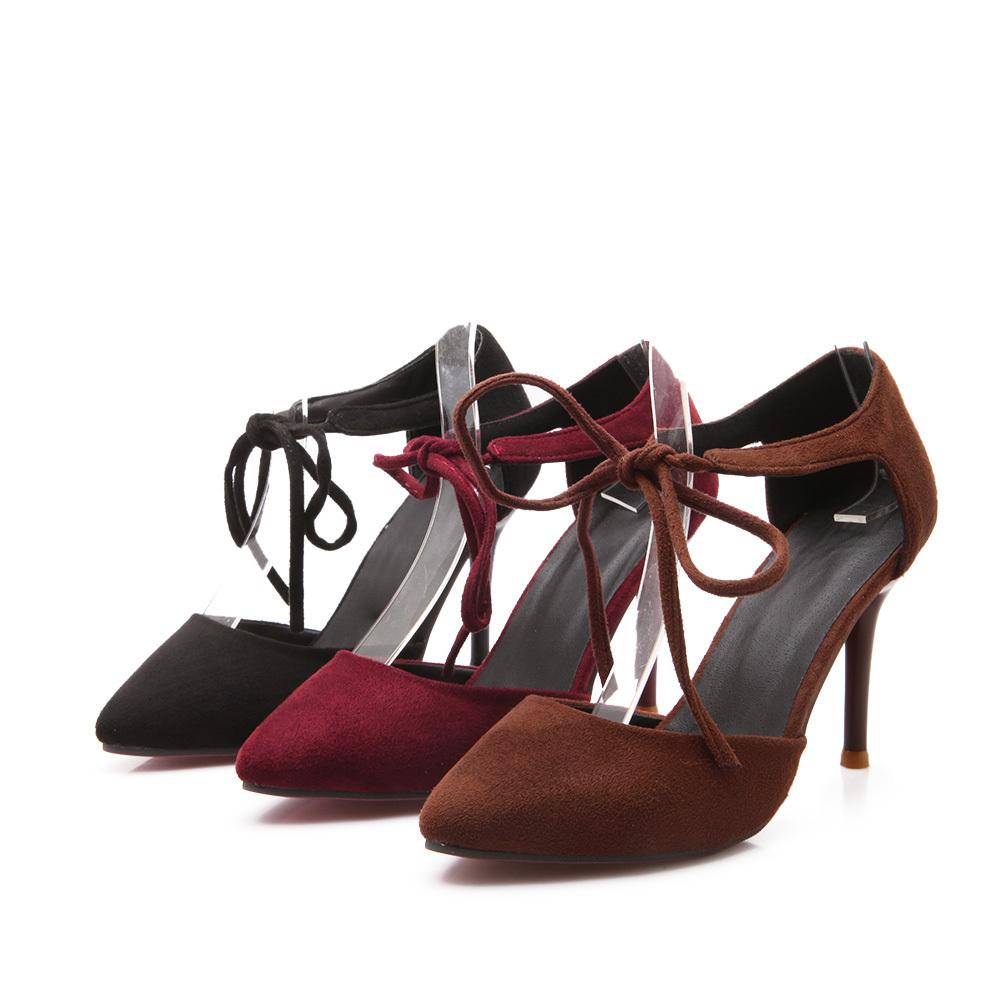 Ladies Yellow High Heel Shoes