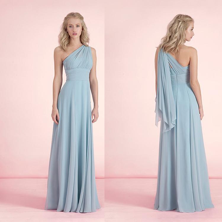 Aliexpress Buy B116 5 Style Chiffon Long Bridesmaid Dresses 2016 A Line Simple Dress For