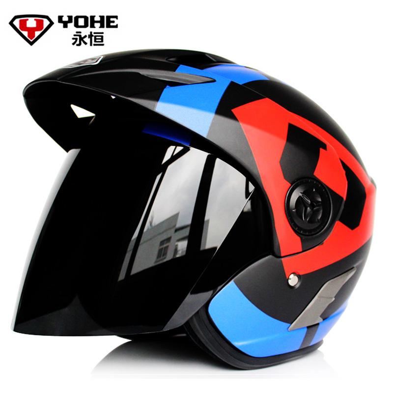 Yohe YH887A Motorcycle half helmet electric bicycle motos Open face helmet half helmet moto 3/4 casco(China (Mainland))