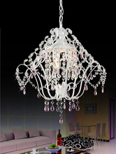 country style lighting American rustic chandelier lighting wrought iron crystal chandelier lamps rustic chandeliers and pendants(China (Mainland))