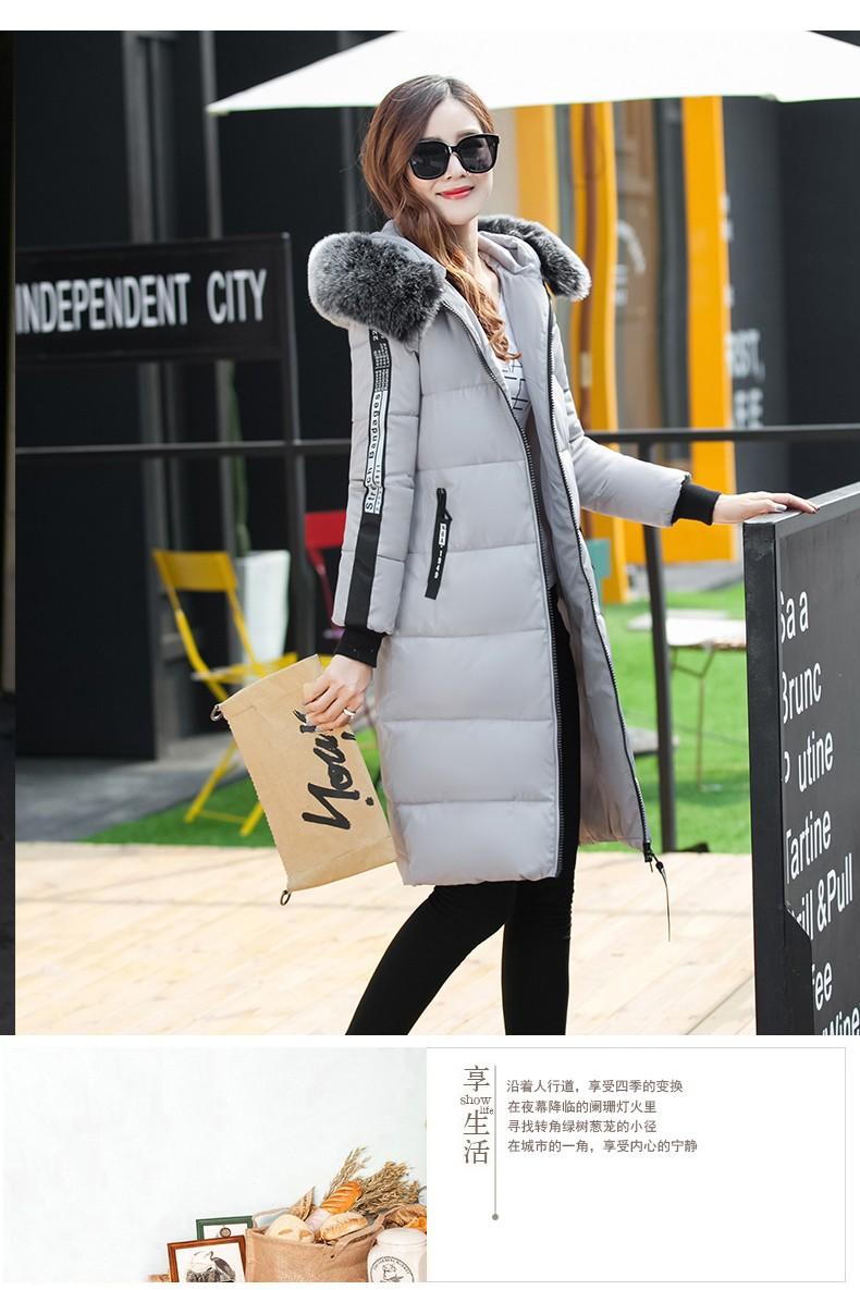 Скидки на Новый Зимняя Мода Женщины Парки С Капюшоном Утолщаются Супер теплый Средней Длины Пальто С Длинным рукавом Slim Большой ярдов Хлопка-проложенный куртка NZ390