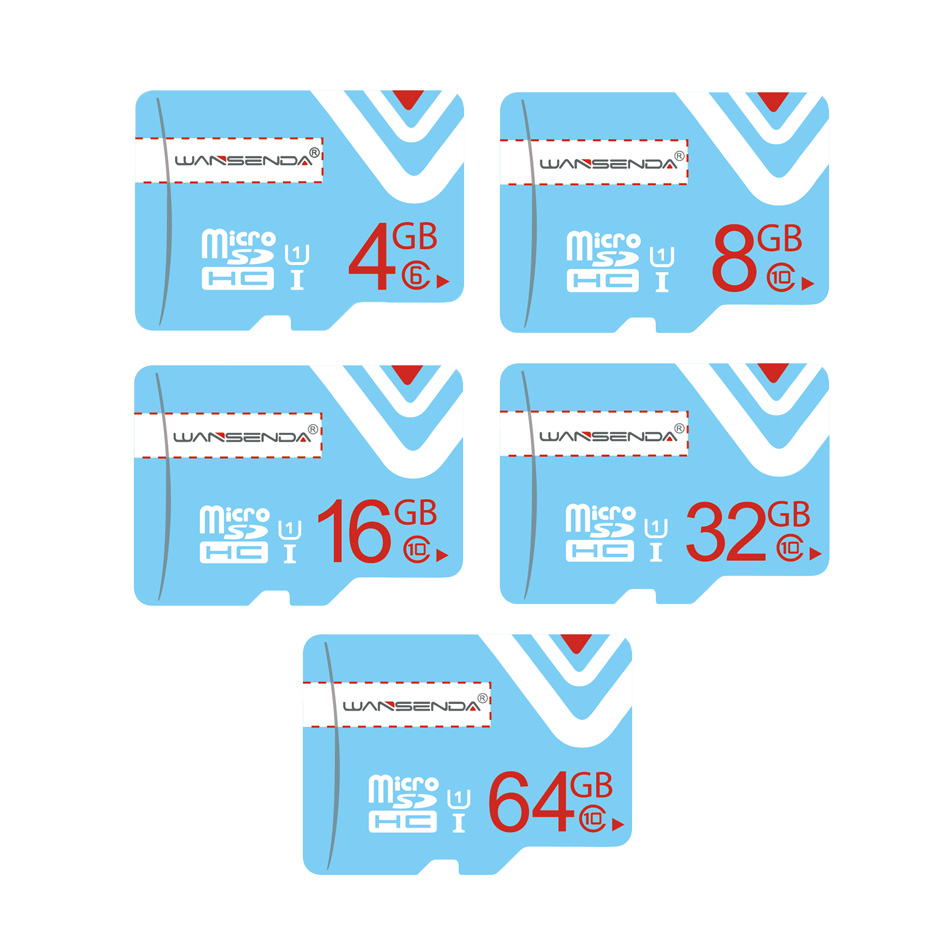 1PCS WANSENDA micro sd CARD mini sd card 4GB 8GB 16GB 32GB 64GB class 6 class 10 Memory Card tf card free gift adapter(China (Mainland))
