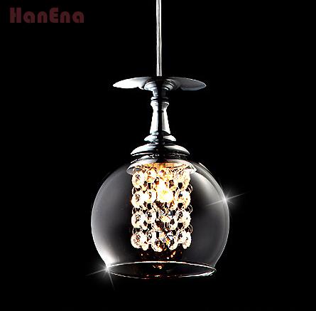 Free Shipping promotion New Modern Lights Crystal Wineglass Wine Glass ball crystal lamp pendant light(China (Mainland))