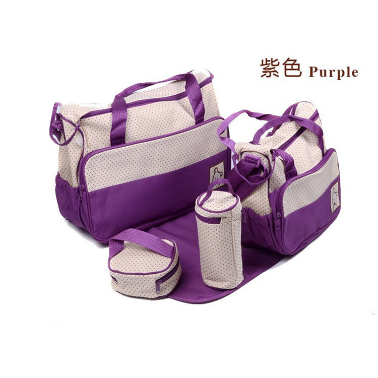 2016 new hot imported microfiber mummy five piece suit bag multifunctional fashion baby diaper bag bottle bag<br><br>Aliexpress