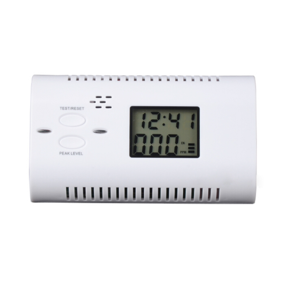 Battery-Operated CO Carbon Monoxide Detector Alarm Human Voice Warning Battery Powered Backlight Digital LCD Display(China (Mainland))