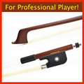 4 4 Size Pure SILVER Mounted Brazilwood Cello Bow Pernambuco Performance Unbleached Mongolia Horse Hair Wonderful