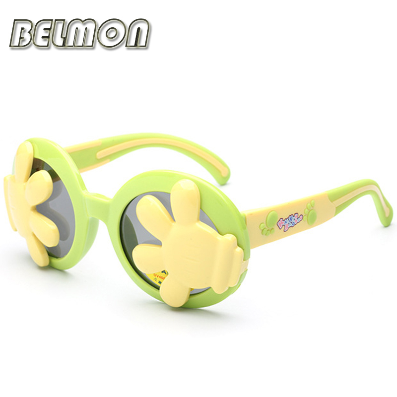 Kids Polarized Sunglasses Brand Cartoon Sun Glasses Boys&Girls Baby Suitable For Children Aged 3-10 Slip TR90 Frame Oculos RS119(China (Mainland))