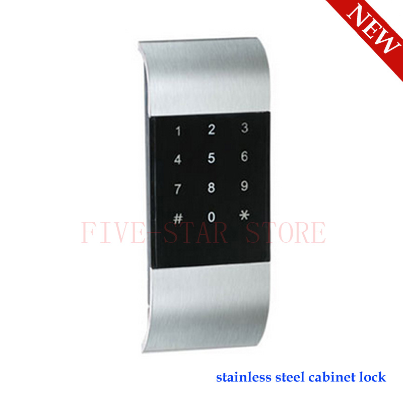 new stainless steel keyless electronic digital password keypad cabinet lock touch screen code. Black Bedroom Furniture Sets. Home Design Ideas