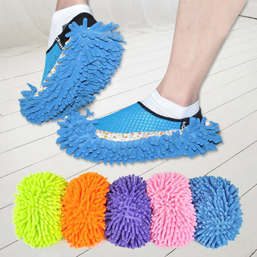 1Pcs Dust Floor Cleaning Slippers Shoe Mop House Clean Shoe Cover Multifunction(China (Mainland))