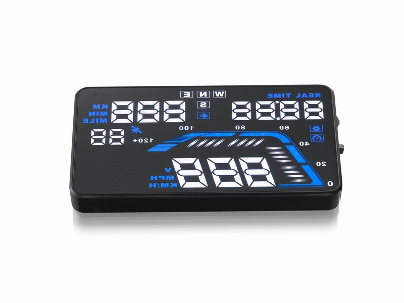 5.5 inch Large Screen GPS Q7 Car HUD Head Up Display KM/h & MPH Overspeed Warning Windshield Projector Alarm System(China (Mainland))