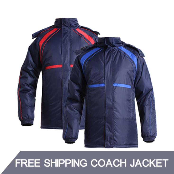 2015 Winter Kids And Mens Soccer Jackets Team Training Football Jerseys Hooded Outwear Warm Sport Coat Good Quality(China (Mainland))