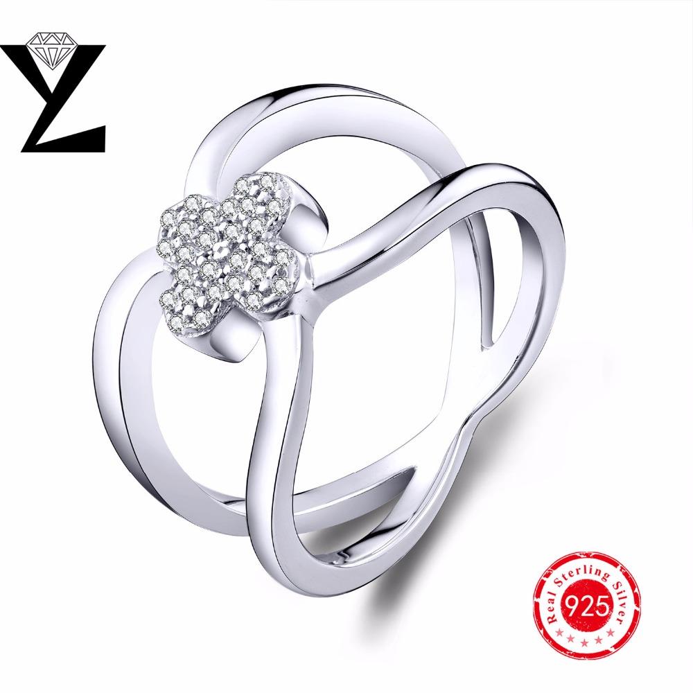 aaa cz engagement wedding rings genuine 925