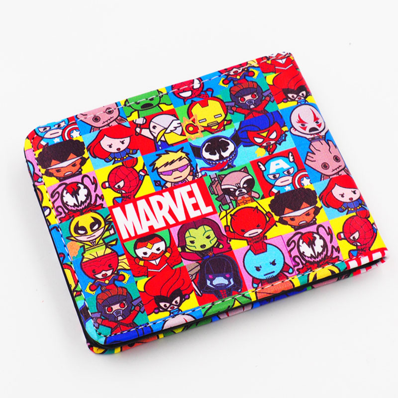 Women Marvel Wallet Captain America Cartoon Series Short Paragraph Purses Portefeuille Femme Portfel Ladies Leather Wallets(China (Mainland))