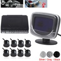 Waterproof 8 Rear Front View Car Parking Sensors System Auto Vehicles Reverse Backup Radar Kit with