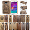 Luxury gfit 100 Bamboo Sculpture NOTE Wood carcasa Engraved Case For Samsung Galaxy S4 mini S5