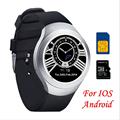 Original OUKITEl A28 Smart Watch 1 54inch MT2502A bluetooth4 0 Genuine leather band Heart Tracker monitor
