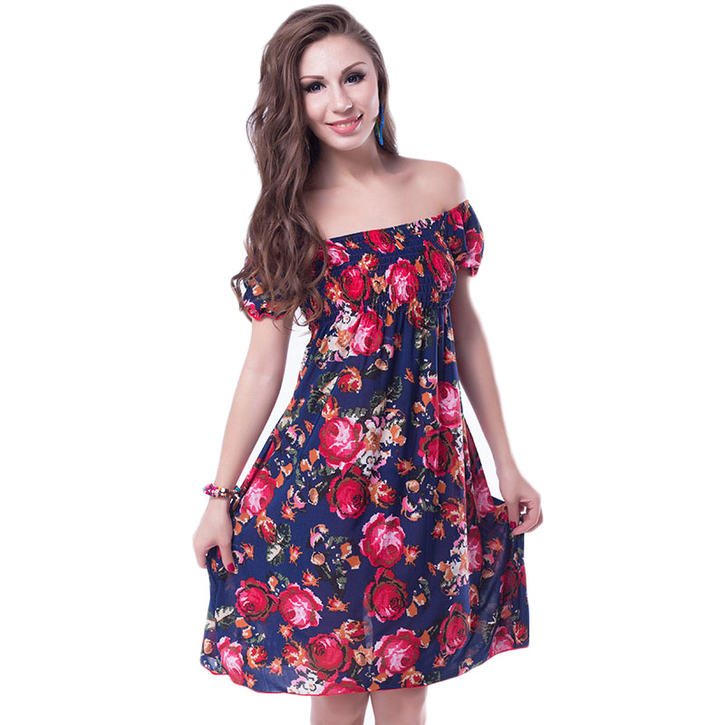 RH70029 Colorful floral print dress fashion style popular ...