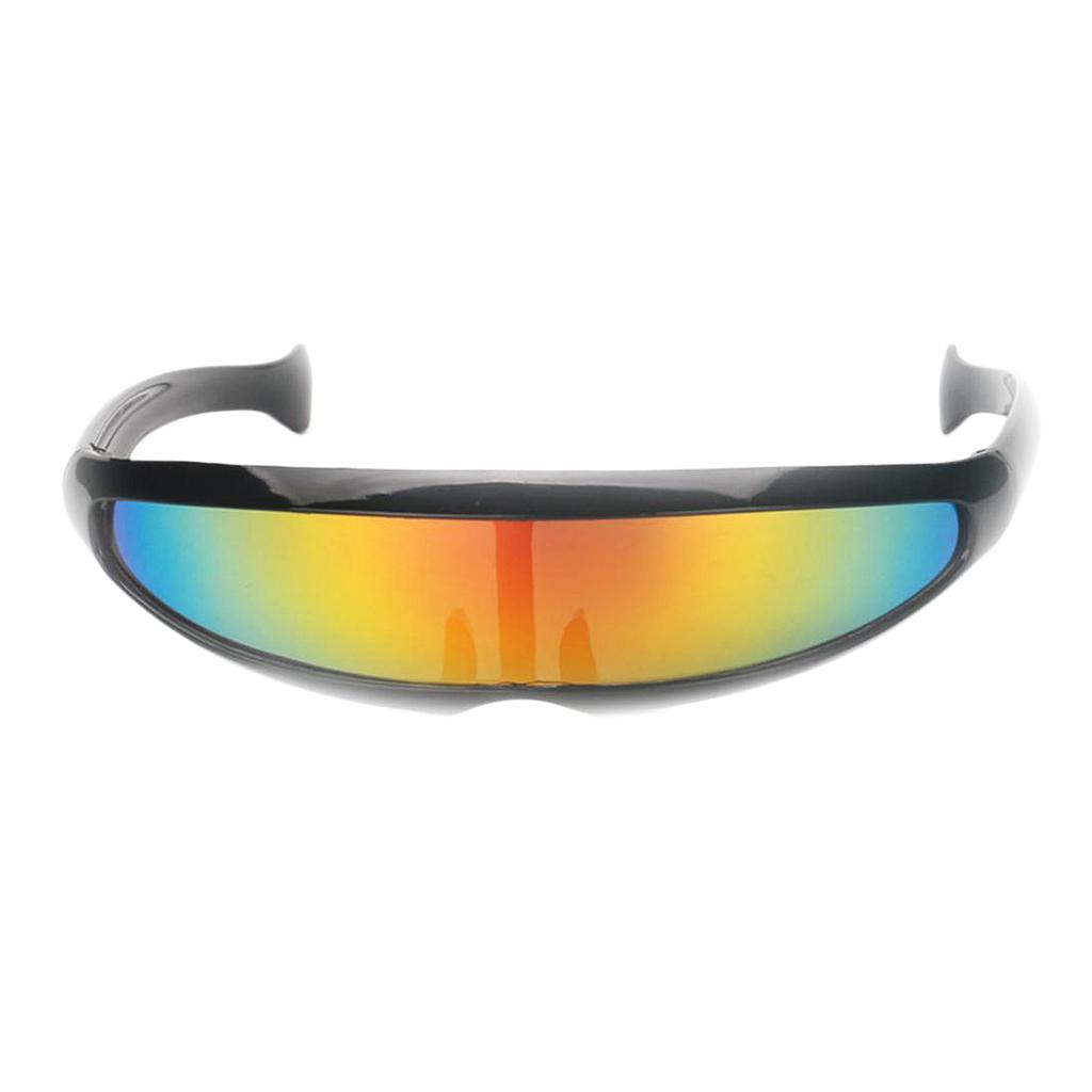 Futuristic Metallic Silver Alien Robot Glasses Space Party Shade Sunglasses