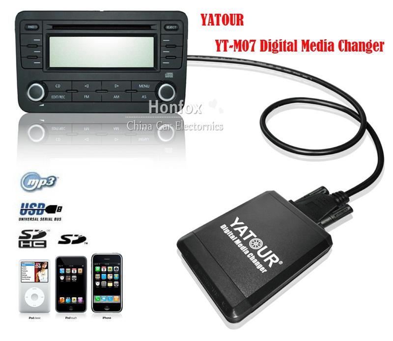 Yatour YT-M07 For Hyundai Elantra 2003-2007 / Kia Optima 2005-2009 13 pin iPod / iPhone / USB / SD / AUX Digital Media Changer<br><br>Aliexpress