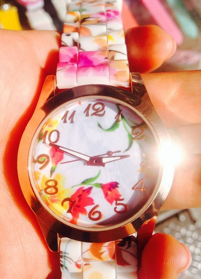 Yoner Relogios das mulheres  ing Brand Retro  Women Watch Silicone Printed Flower Causal Quartz Wrist Watches Relogio<br><br>Aliexpress