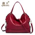 QIWANG 2016 Large Leather Women Bags Luxury Brand Genuine Leather Bags High Quality Crocodile Pebble Cow