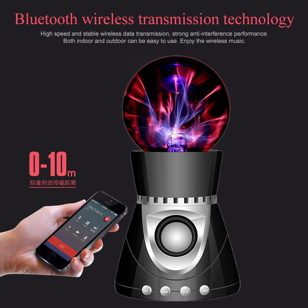 Bluetooth Wireless Speaker Crystal Magic Ball Stereo Portable Speaker Stage LED Loudspeaker amplifier With USB /TF/FM radio+Gift(China (Mainland))
