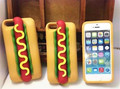 New Cartoon Hot Dog Case For Funda iPhone 5 Case Luxury Silicone Fashion Capinha Cute Coque