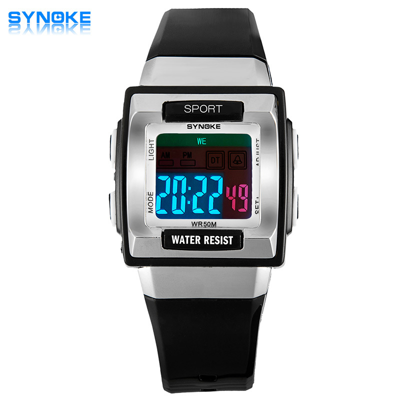 2016 SYNOKE HotSale Kids Cartoon Wrist watches for Men Clock Casual LED Digital Watch Outdoor Sports Waterproof Children's Watch(China (Mainland))