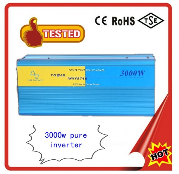 Pura inversor de onda sinusoidal High power 3000W Pure sine wave inverter 24V to 120V 60Hz 3000W, off inverter free shipping<br><br>Aliexpress