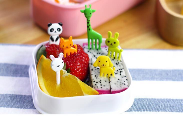 10 unids bag new animal farm mini cartoon fruit fruit toothpick holder resin sign bento lunch - Toothpick holder for purse ...