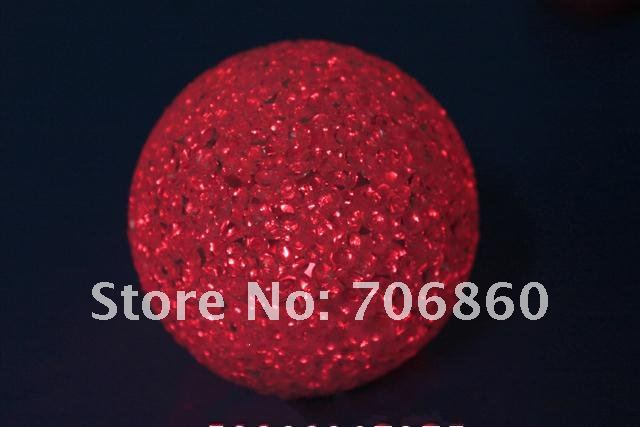 LED Crystal Ball Laser Flashing Ball Light Disco Glow Ball Christmas Halloween Gift With Box 50pcs(China (Mainland))