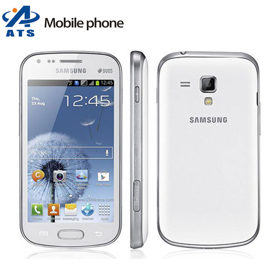 "S7562 Original Samsung Galaxy s duos s7562 Mobile phone Dual Sim Android 4.0"" GPS WIFI 5MP Camera Free Shipping(China (Mainland))"