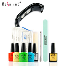 New Arrival Rosalind Hello UV Gel Kit Soak-off Gel Polish Gel Nail Kit Nail Art Tools Sets Kits Manicure Set