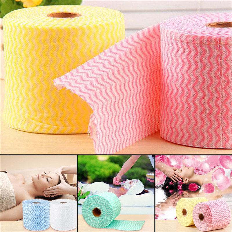 65.6ft Disposable Deep Cleaning Face Towel Makeup Cosmetic Non-woven Fabric Cotton Cloth Random Color(China (Mainland))
