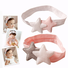 Buy Newly Design Girls Two Star Headbands Newborn Infant Hair Accessories Kids Headwear Baby Headdress Children Elastic Hair Bands for $1.44 in AliExpress store