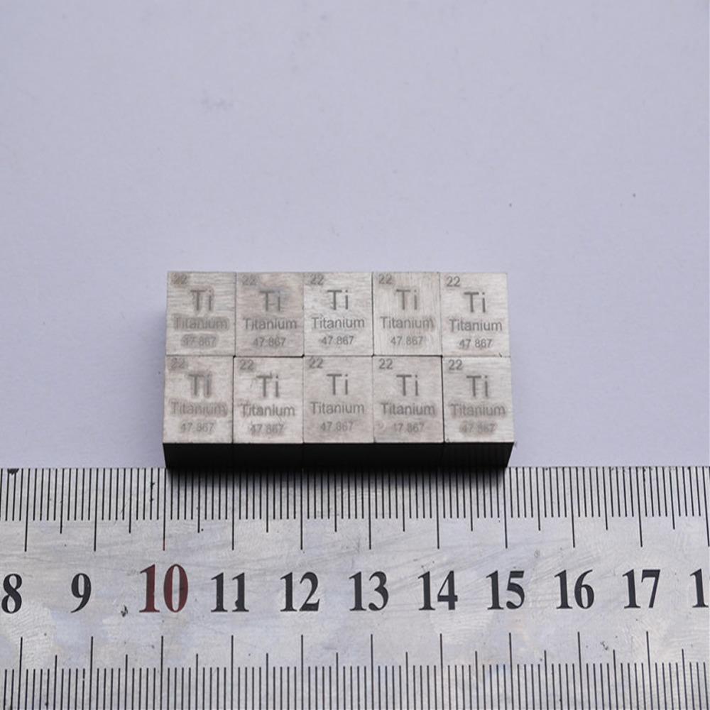 Гаджет  99.5% High Purity Titanium Ti Metal Carved Element Periodic Table 10mm Cube 1pc None Строительство и Недвижимость