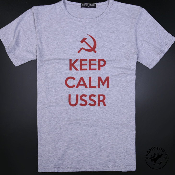 Гаджет  2015 I send leadership LYS LNF IC KEEP reflux USSR English CCCP t-shirts with short sleeves None Изготовление под заказ