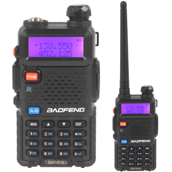 BAOFENG BF-F8 Dual Band Ham Radio VHF / UHF 136-174MHz & 400-520MHz 128 channel Two way radio(China (Mainland))