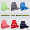 New 2016 Super Soft Cotton Blanket 102x76cm Blankets sofa air plain throws Newborn mantas cobertores Crib