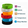 New Green W2 Smart Watch Bracelet Smartband Phone Mate Pedometer Sleep Monitor Thermometer Track Calories Burned
