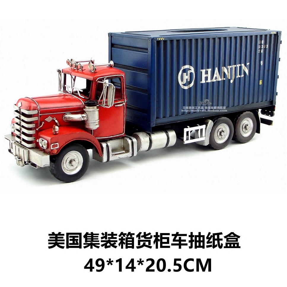 Hot Classic Transformation Container Truck Model Creative Paper Box Best Gift Home Bar Decoration(China (Mainland))