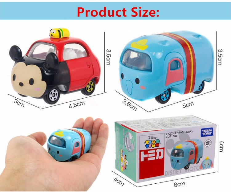 Free Transport three types Tsum Tsum Automobile Tomica Tomy Mini Automobiles Kawaii Tomica Diecast Toy Automobile Steel Mannequin for childrens presents