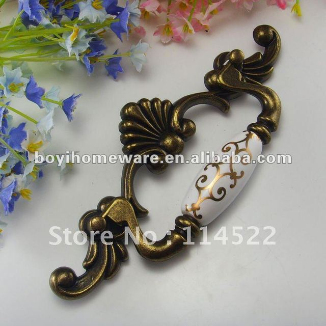 Antique brass door handles and knobs/ drawer pulls/ furniture hardware wholesale and retail shipping discount 50pcs/lot EK88-AB
