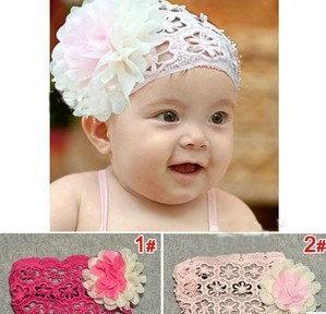 baby girls rose flower hairband children lace rose