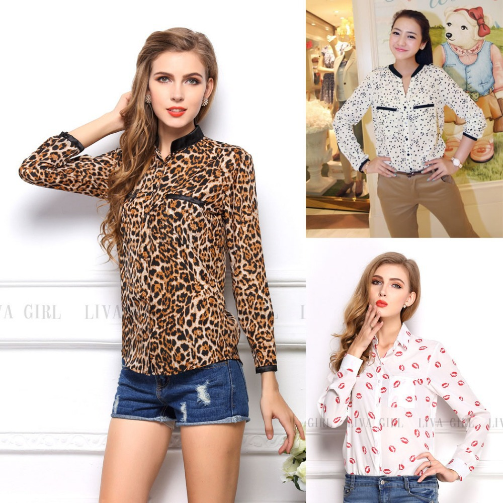 Леопардовые Блузки Купить