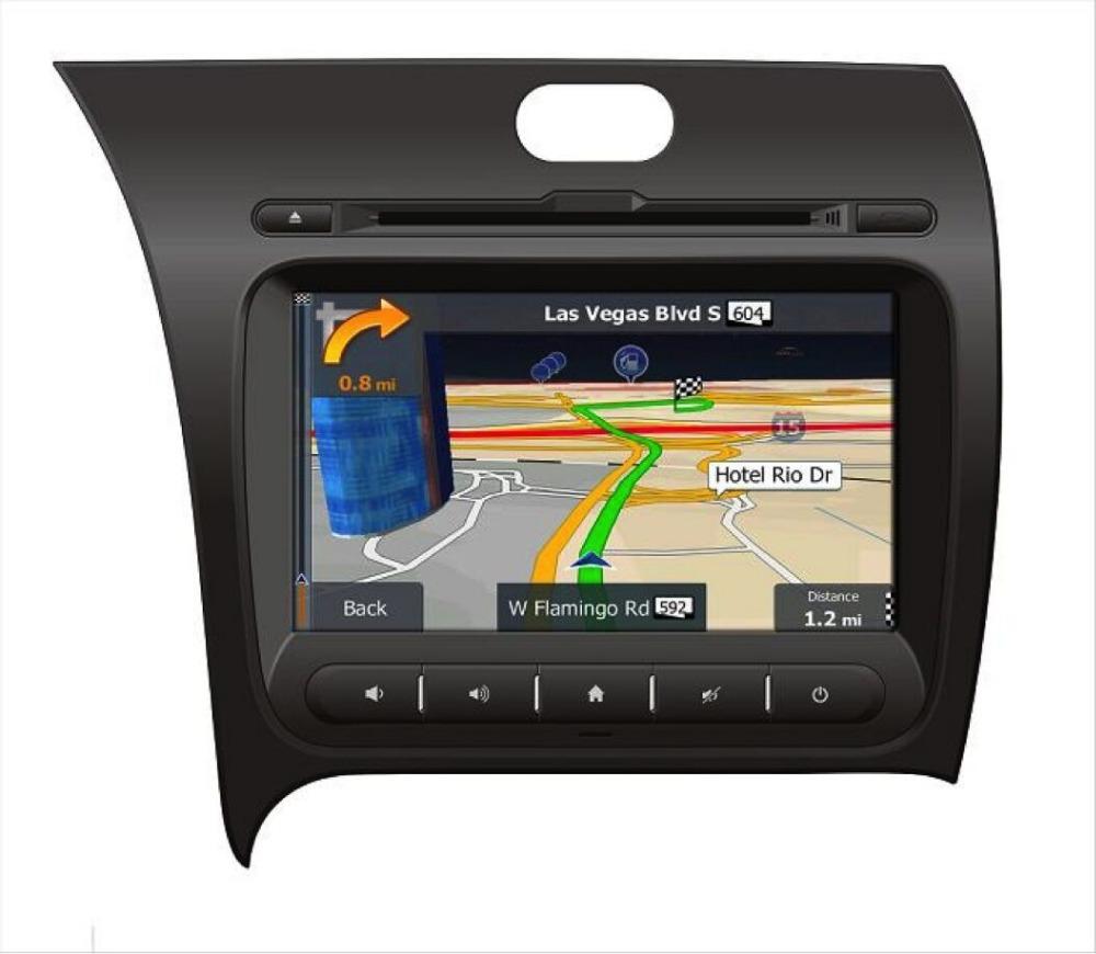 8 digital touch screen font b Car b font font b GPS b font for K3