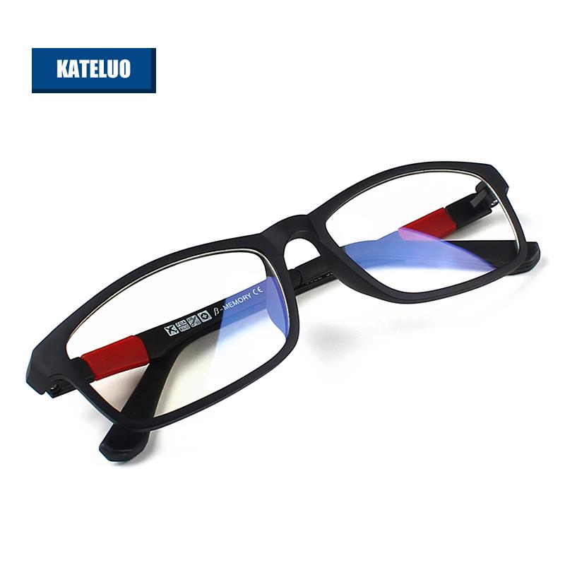 KATELUO TUNGSTEN CARBON STEEL Computer Goggles Anti Fatigue Radiation-resistant Reading Glasses Frame Eyeglasses 13022 - PRJ store